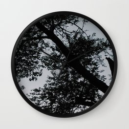 Evening Trees 2 Wall Clock