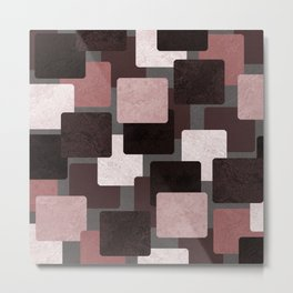 Geometric Marble 06 (abstract) Metal Print