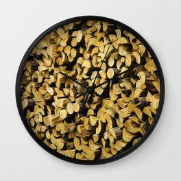 Wood Pile Painterly Wall Clock