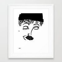 chaplin Framed Art Prints featuring Chaplin  by Sardine