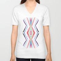 aqua V-neck T-shirts featuring Aqua by FakeFred
