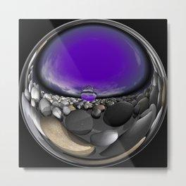 circular images on black -10- Metal Print