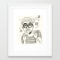 karma Framed Art Prints featuring Karma  by Danielle Feigenbaum