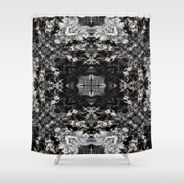 Black, White and Gray All Over Shower Curtain