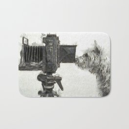 Pho Dog Grapher Bath Mat