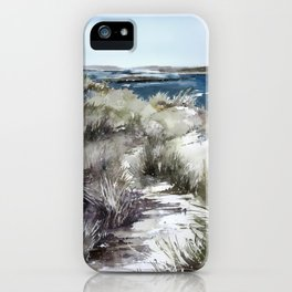 Cold seashore grass iPhone Case