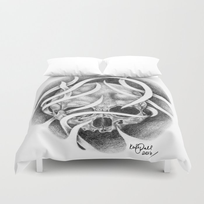 Swirly Skull Duvet Cover