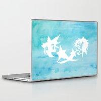 kingdom hearts Laptop & iPad Skins featuring Kingdom Hearts Watercolor by Sierra Wheeler