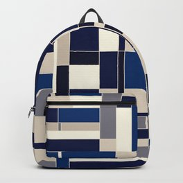 Blue abstract city Backpack