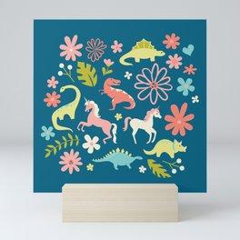 Dinosaurs + Unicorns Mini Art Print