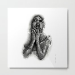Gina Harisson - The Drowning Woman Metal Print