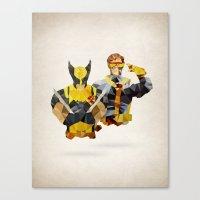 xmen Canvas Prints featuring Polygon Heroes - Xmen by PolygonHeroes
