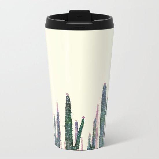 cactus water color Metal Travel Mug