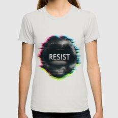 Resist MEDIUM Silver Womens Fitted Tee