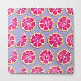 Grapefruit pattern 04 Metal Print