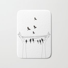 Cat's cradle Bath Mat