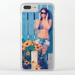 By The Fence Clear iPhone Case