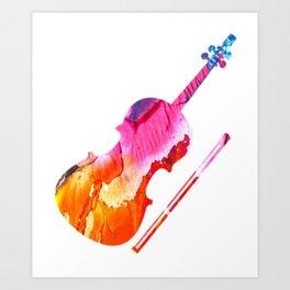 Colored Violin Gift Idea for Violinist Art Print