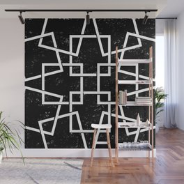 Black and White Minimalist Geomentric Wall Mural