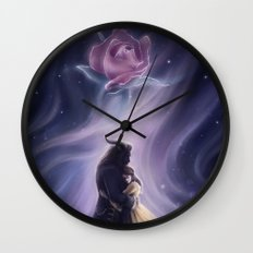Beauty and the Beas Wall Clock