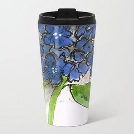 Hydrangeny Metal Travel Mug