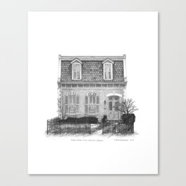 Second Empire Style, Parkdale - Architectural Styles of Toronto Houses Canvas Print
