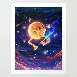 Dancing by the Moon Art Print