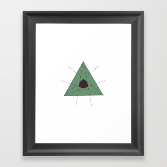 #204 There lies a cube at the heart of every triangle – Geometry Daily Framed Art Print