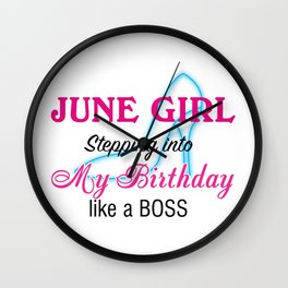 June Girl Birthday Wall Clock