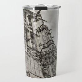 Gothic tower against the sky Travel Mug