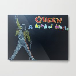 Freddie & Mercury A kind of Magic Tribute Metal Print