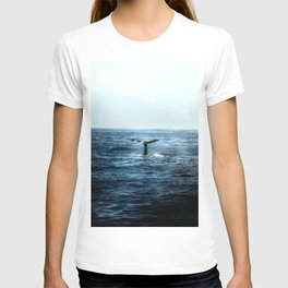 Ocean Teal Whale T-shirt
