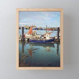Howth Harbour Boats Framed Mini Art Print