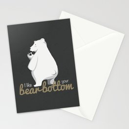 I Like Your Bear Bottom Stationery Cards
