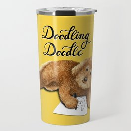 Doodling Doodle (Yellow) Travel Mug
