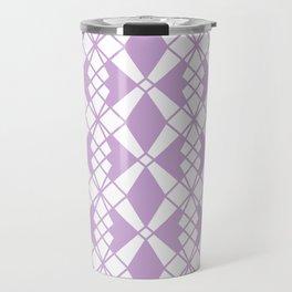 Abstract geometric pattern - purple and white. Travel Mug