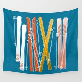 Colorful Ski Pattern Wall Tapestry