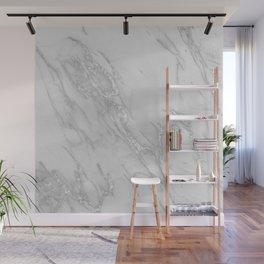 Marble Love Silver Metallic Wall Mural