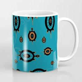 Blue Turtles all the way Round Coffee Mug