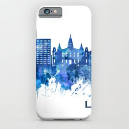 Lafayette Louisiana Skyline Blue iPhone Case