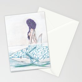 The girl and the fish Stationery Cards