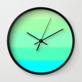 Cooling Aqua Autumn Sky Wall Clock