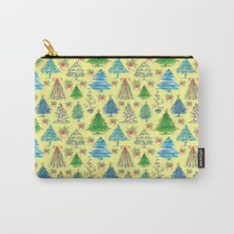 Christmas Tree in Yellow Backdrop Carry-All Pouch
