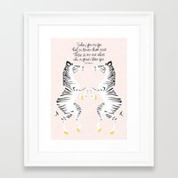 dr seuss Framed Art Prints featuring Zebras (Dr. Seuss) by Lay Baby Lay