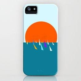 Minimal regatta in the sun iPhone Case