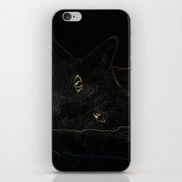 Halloween Black Cat iPhone Skin