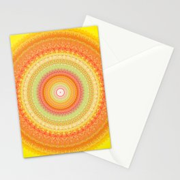 Bright Yellow Orange Mandala Stationery Cards
