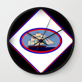 A Nautical Oval Ship Wall Clock