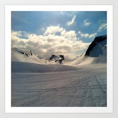 Snowcapped Iceland Art Print