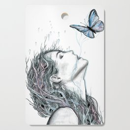 Girl Portrait Artwork Cutting Board
